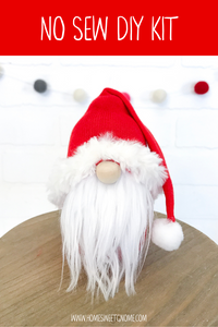 DIY December Gnome of the Month -  Gnome Making Kit - NO SEW KIT