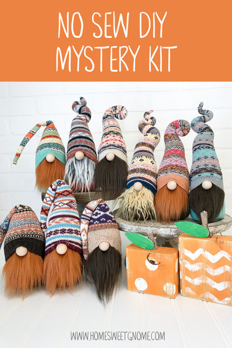 DIY Mystery Fall Gnome Making Kit - NO SEW KIT