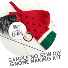 Load image into Gallery viewer, DIY Black White Red Stripe Gnome - NO SEW KIT