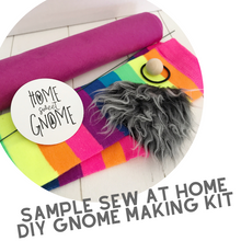 Load image into Gallery viewer, DIY White With Pink Heart Pink Curly Beard Gnome - SEW AT HOME