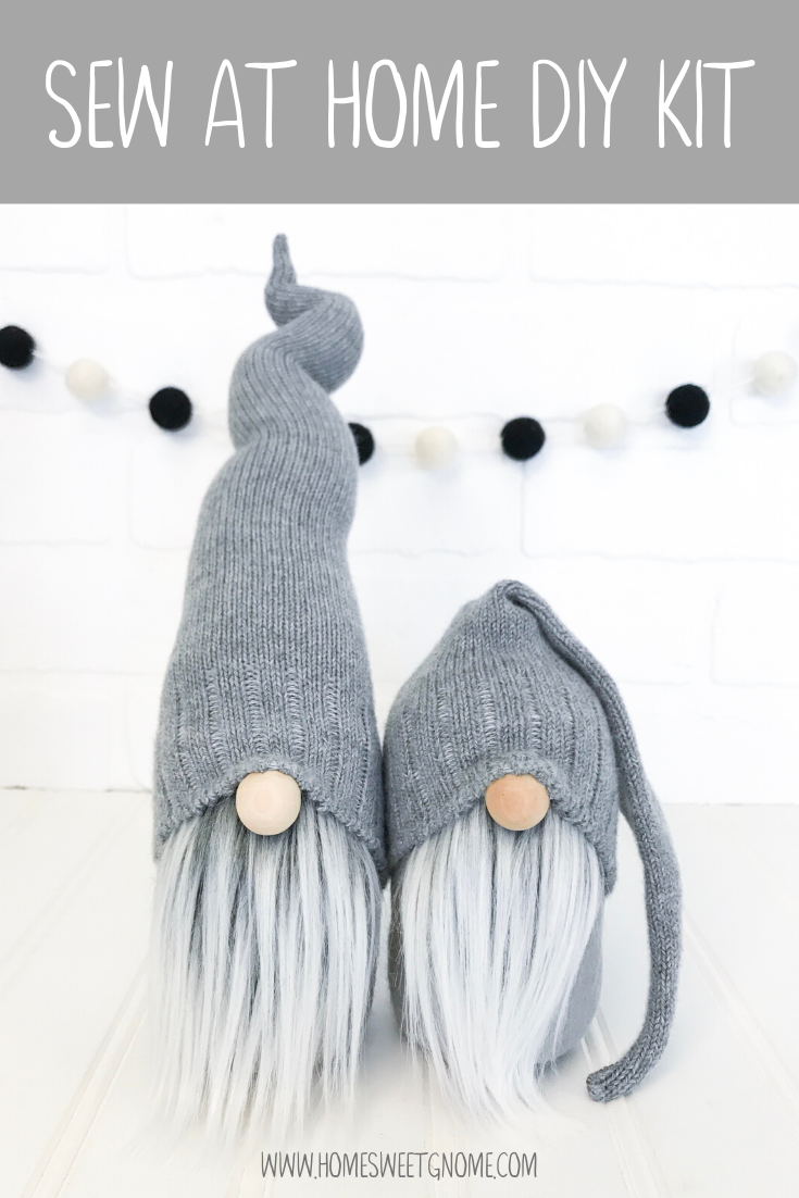 DIY Gray Sweater Gnome Making Kit - SEW AT HOME