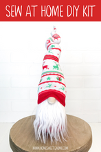 Load image into Gallery viewer, DIY Red & Green Reindeer Gnome Making Kit - SEW AT HOME