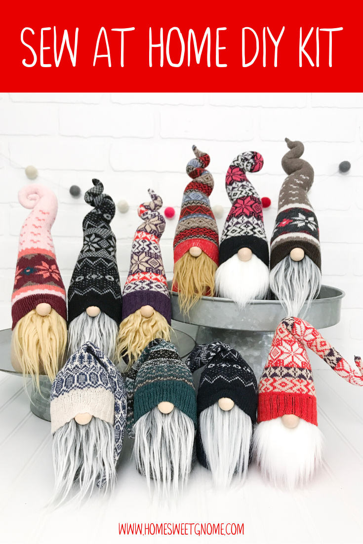 DIY Mystery Winter Gnome Making Kit - SEW AT HOME