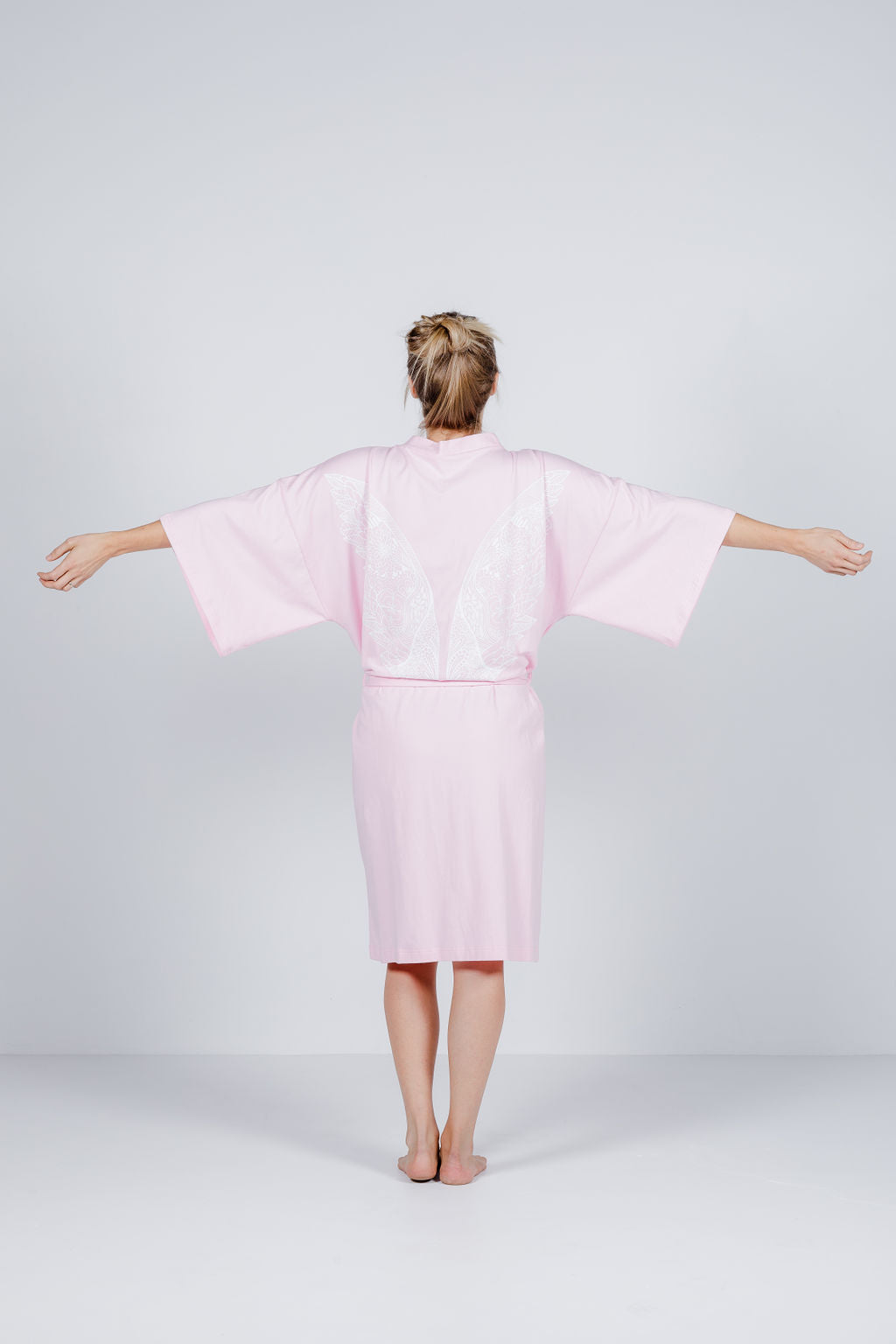 ROBE - Pink with White Wings