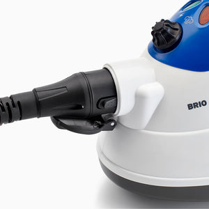 BRIO 225CC Steam Cleaner features easy to use attachments