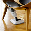 The Steamboy PRO 300CU steam floor steamer and scrubber works great on vinyl and wood floors.