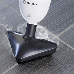 The Steamboy PRO 300CU floor scrubber easily cleans and sanitizes tile and grout.