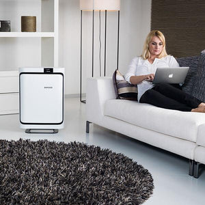 The P500 air purifier is whisper-quiet.