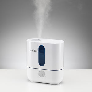 BONECO AOS U200 ultrasonic room humidifier provides soothing cool mist