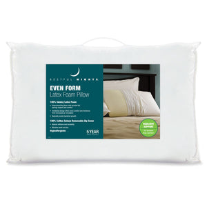 Restful Nights Even Form Talalay Latex Pillow in Package