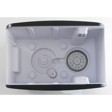 Load image into Gallery viewer, Inside the S450 High Capacity Steam Humidifier. Anti-mineral pad keeps white dust in check.