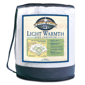 Pacific Coast® Light Warmth Down Comforter - Available in 3 Sizes