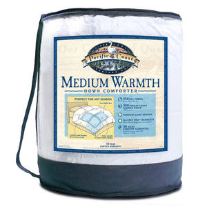 Pacific Coast® Medium Warmth Down Comforter - Available in 3 sizes