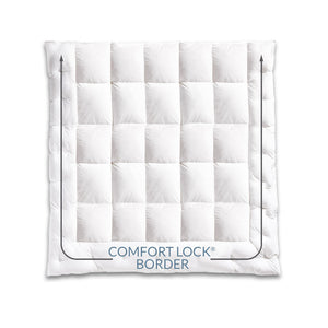 Pacific Coast® Medium Warmth Down Comforter - Comfort lock border prevents shifting
