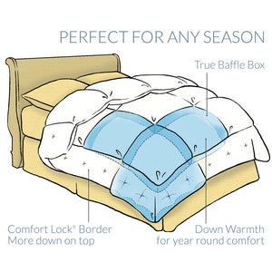 Pacific Coast® Medium Warmth Down Comforter - Perfect for Any Season