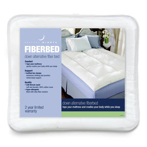 Restful Nights® Down Alternative Fiber Bed - Available in 4 Sizes