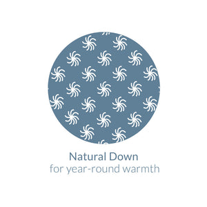 Restful Nights® All Natural Down Comforter - Natural Down for Year Round Warmth