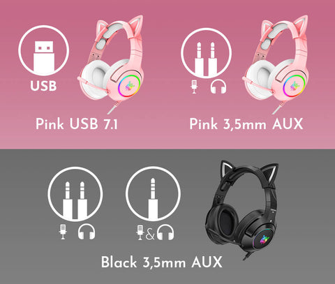 Cat Headsets - Help Me Choose - USB or 3.5mm AUX cable
