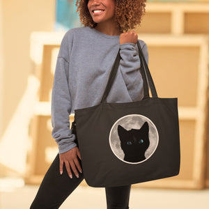Felini & Moon - Stay Wild Moon Child! Large organic tote bag - Felini Cat Shop