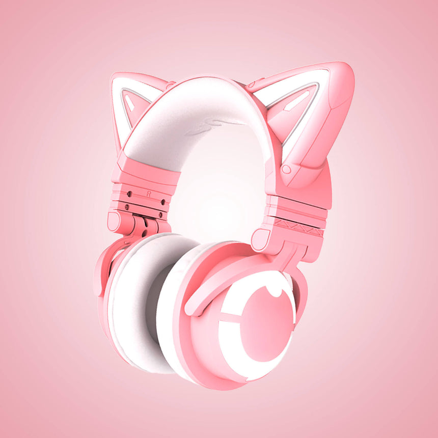 Cosplay Cat Headphones - Pink Variant 3/4 View - Cute Girl Japanese Anime Manga Kitty Style