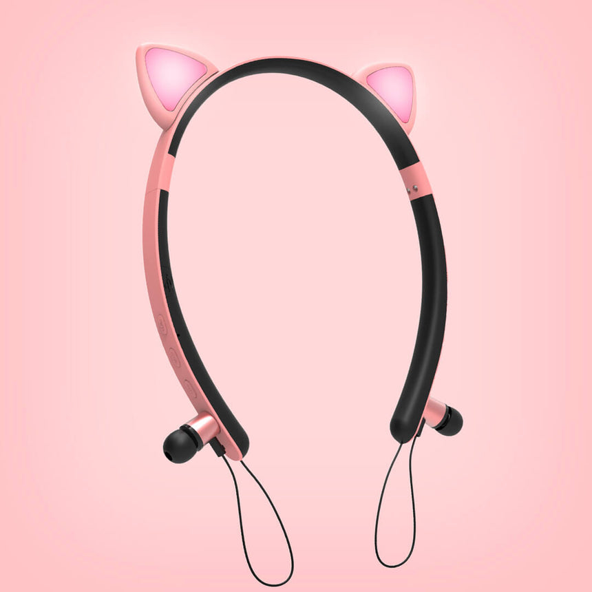 Cute Fashion Cat Headphones & Cat Headband - beautiful image of pink hairband variant