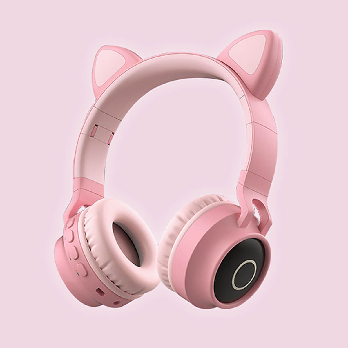 Cat Headphones Kitty Tunes, cute wireless headphone with cat ears - product image all pink earphones
