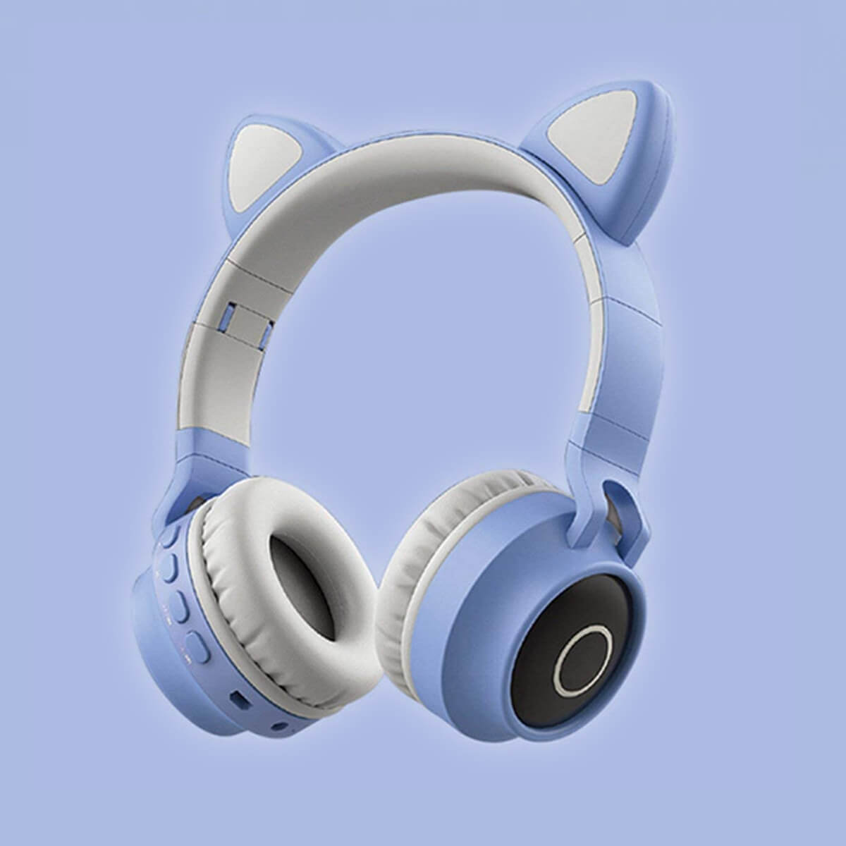 Cat Headphones Kitty Tunes, cute wireless headphone with cat ears - product image sky blue earphones