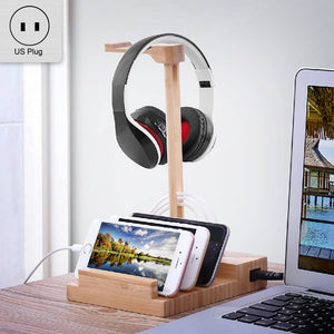 Open image in slideshow, Headphone Stand & USB Charging Station