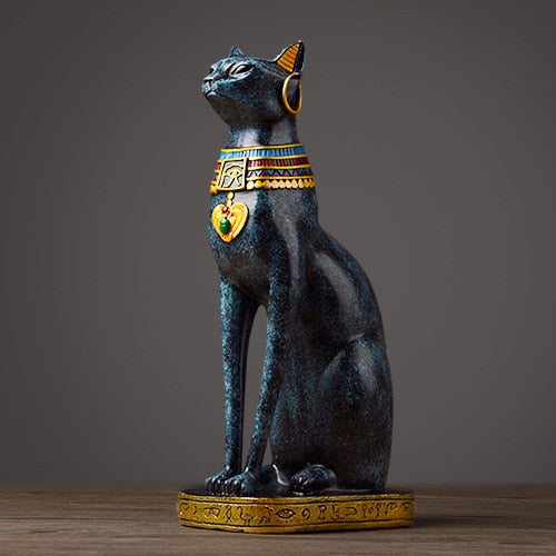 Egyptian Cat resin craft vintage home decor Modern Vintage Baster goddess god pharaoh figurine statue for table ornaments Gift
