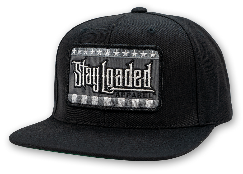 STAY LOADED Stars and Stripes Hat - B/W