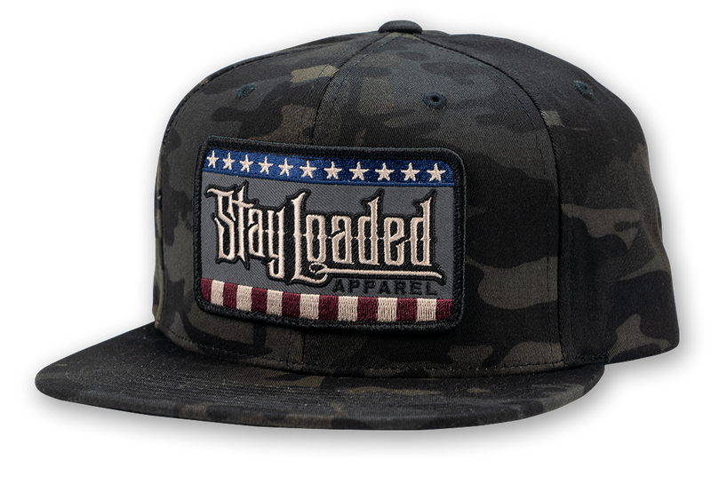 STAY LOADED CAMO Stars and Stripes Hat - RWB