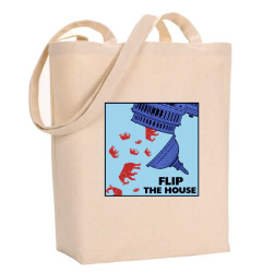 "Large ""Flip the house"" Tote Bag"