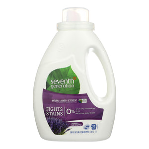 Seventh Generation Natural Laundry Detergent - Blue Eucalyptus And Lavender - Case Of 6 - 50 Fl Oz.