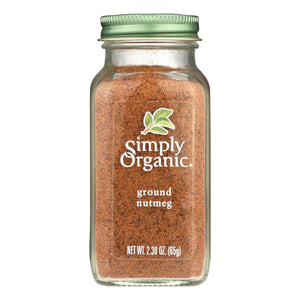 Ground Nutmeg, Organic - 2.3 oz jar