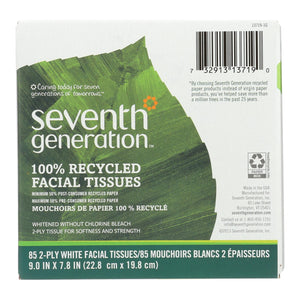 100% Recycled Facial Tissue - Pack of 36 85-count boxes