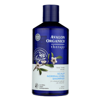 Avalon Organics Scalp Normalizing Shampoo Tea Tree Mint Therapy - 14 Fl Oz