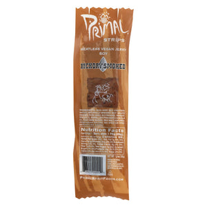 Primal Strips Vegan Jerky - Meatless - Soy - Hickory Smoked - 1 Oz - Case Of 24