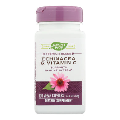 Echinacea and Vitamin C Supplement - 100 492-mg capsules