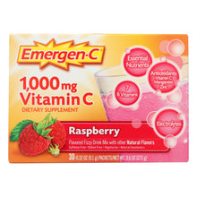 Load image into Gallery viewer, Alacer - Emergen-c Vitamin C Fizzy Drink Mix Raspberry - 1000 Mg - 30 Packets