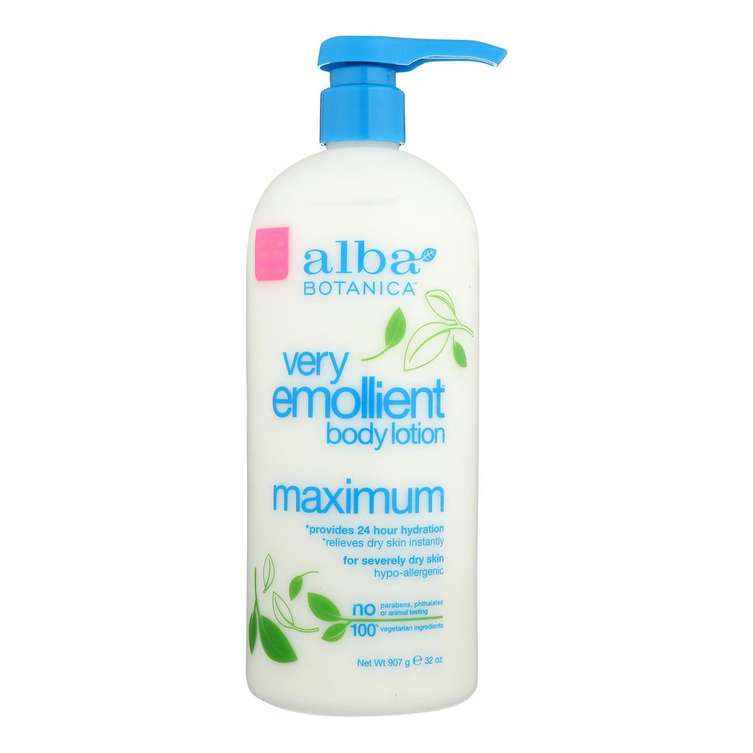 Alba Botanica - Very Emollient Body Lotion - Maximum - 32 Oz