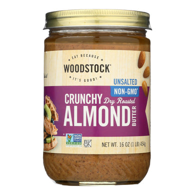 Unsalted Almond Butter, Crunchy - 16 Oz.