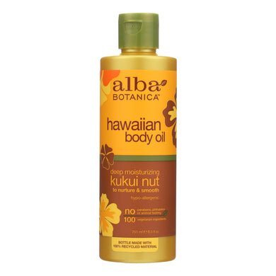 Alba Botanica - Hawaiian Body Oil Kukui Nut - 8.5 Fl Oz