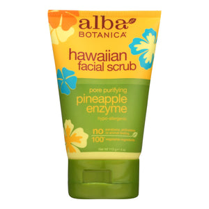 Alba Botanica - Hawaiian Pineapple Enzyme Facial Scrub - 4 Fl Oz