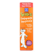 Load image into Gallery viewer, Kiss My Face Kids Toothpaste Fluoride Free Berry Smart - 4 Oz