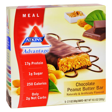 Protein Bars, Chocolate Peanut Butter - Box of 5 2.12-oz bars