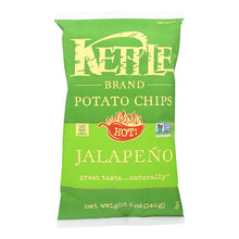 Load image into Gallery viewer, Kettle Brand Potato Chips - Jalapeno - Case Of 15 - 5 Oz.