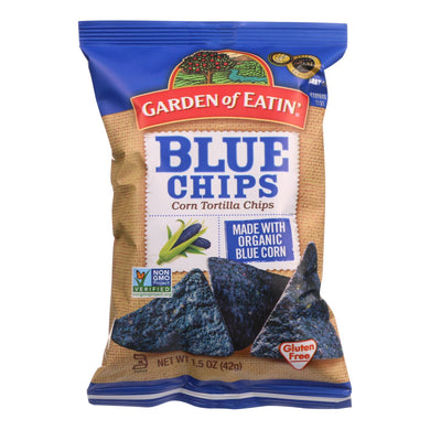 Organic Blue Corn Tortilla Chips - Pack of 24 1.5-oz bags