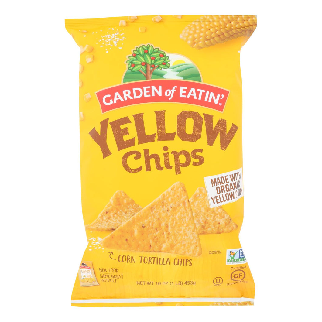Organic Yellow Corn Tortilla Chips - Pack of 12 16-oz bags