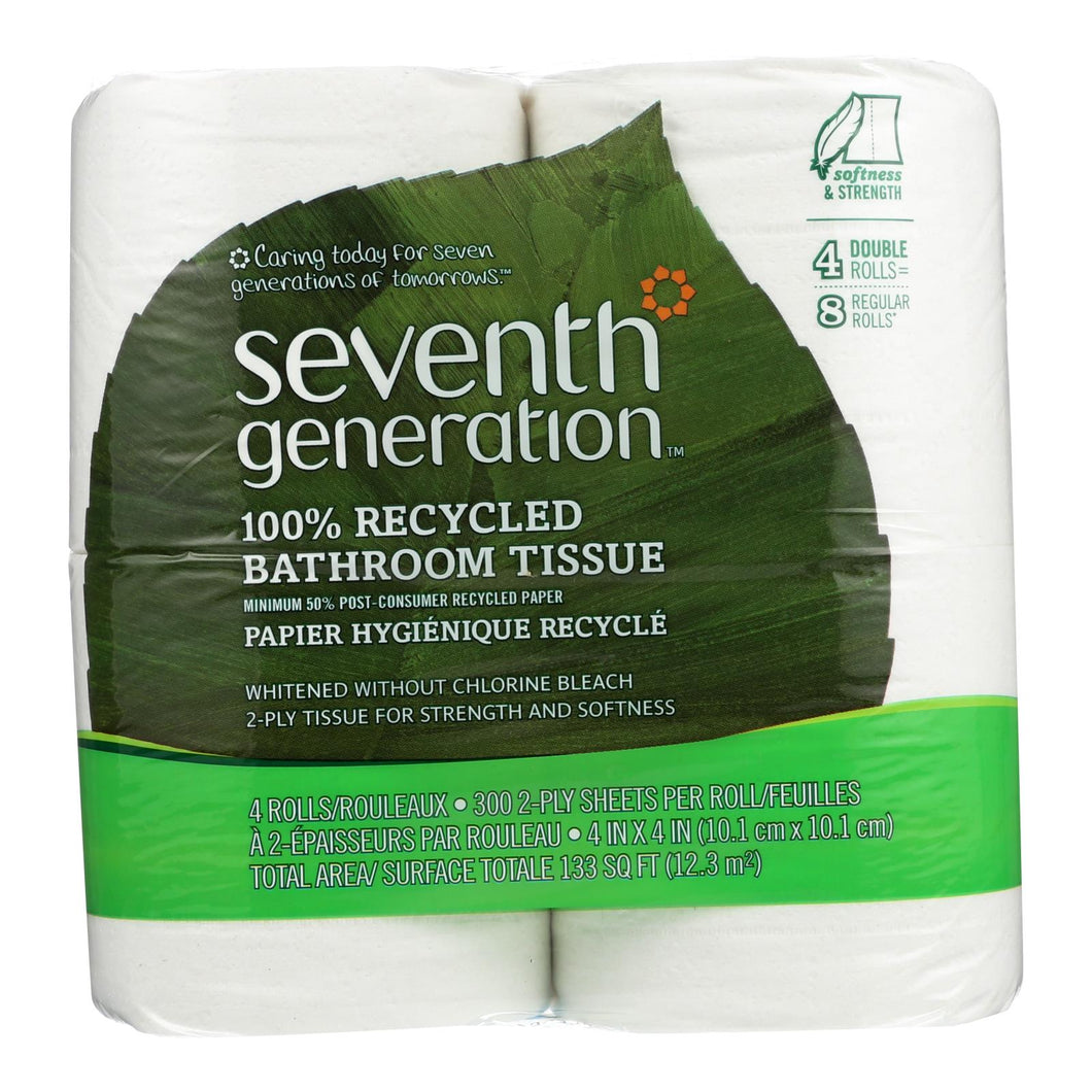 100% Recycled 2 Ply Bathroom Tissue - Pack of 12 300-sheet rolls