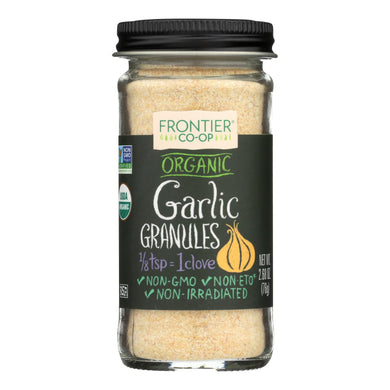Garlic Granules, Organic - 2.7 oz jar